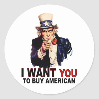 Buy American Classic Round Sticker