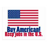 Buy American Keep Jobs in U.S. Postcard