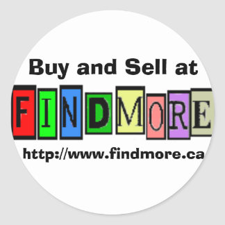 Buy and Sell at FindMore.ca Round Sticker