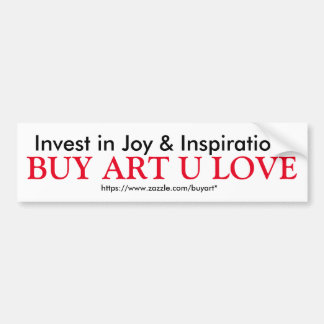 BUY ART U LOVE bumper sticker
