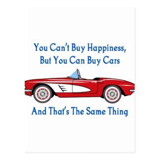 Buy Cars, Buy Happiness Postcard