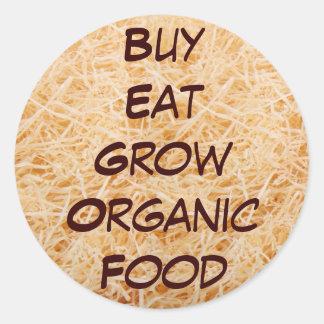 Buy Eat Grow Organic stickers