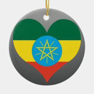 Buy Ethiopia Flag Round Ceramic Decoration