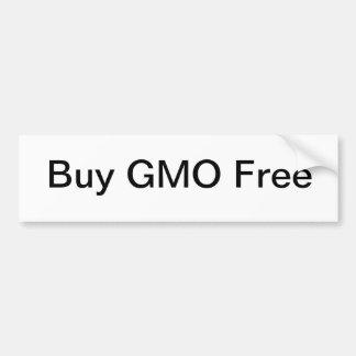 Buy GMO Free Car Bumper Sticker