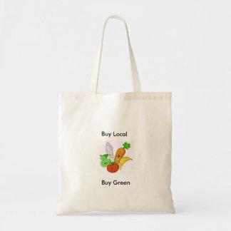 Buy local Buy green tote bag