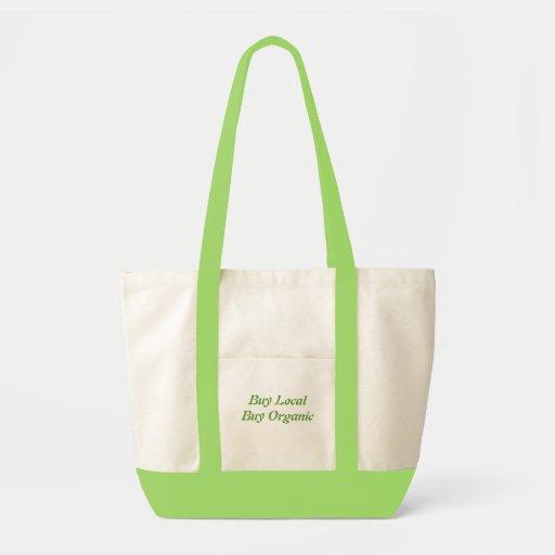 buy local, buy organic canvas bags