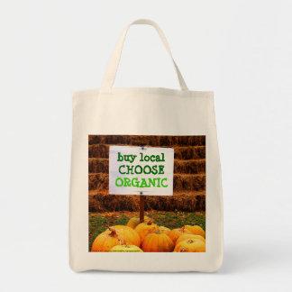 Buy Local Choose Organic Grocery Tote Bag