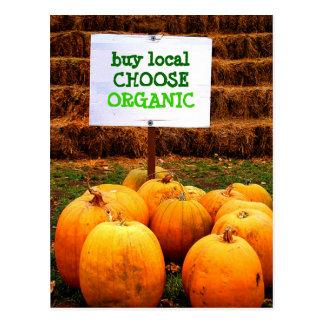 Buy Local Choose Organic Postcard