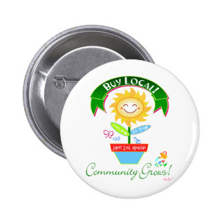 Buy Local Community Grows Pin