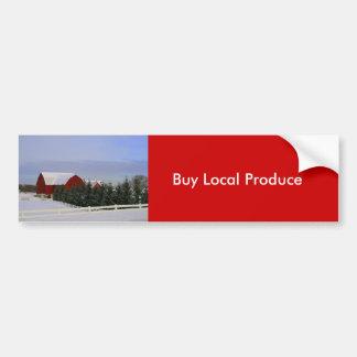Buy Local Produce Bumper Sticker Car Bumper Sticker