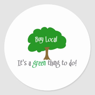 Buy Local Round Stickers