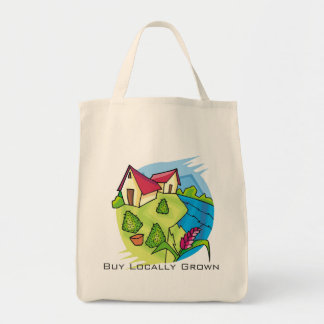 Buy Locally Grown Grocery Tote Bag