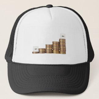 Buy low sell high trucker hat