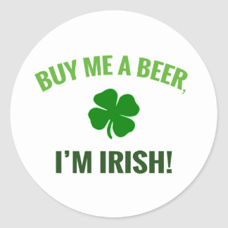 Buy Me a Beer, I'm Irish sticker