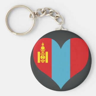 Buy Mongolia Flag Basic Round Button Key Ring