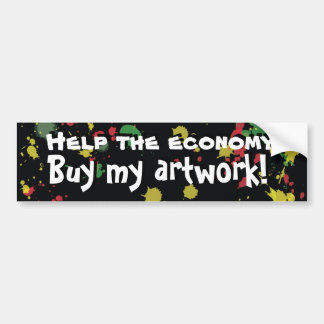 Buy My Artwork! Bumper Sticker