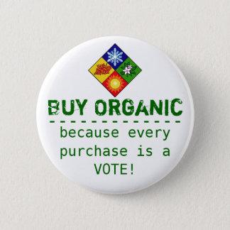 Buy Organic 6 Cm Round Badge