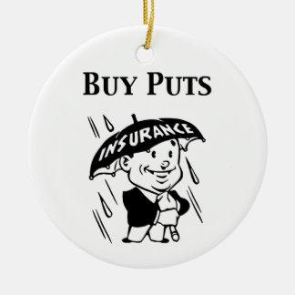 Buy Puts Ceramic Ornament