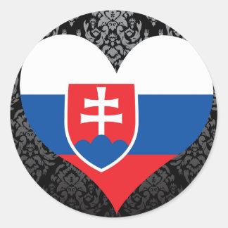Buy Slovakia Flag Classic Round Sticker