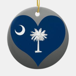 Buy South Carolina Flag Ceramic Ornament