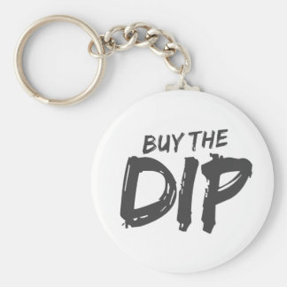 Buy the Dip Black Print Keychain
