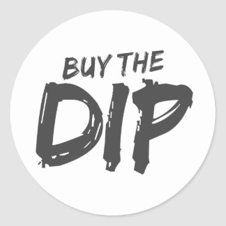 Buy the Dip Black Print Sticker