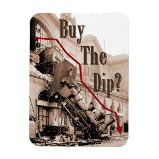 Buy The Dip Stock Market Humor Magnet