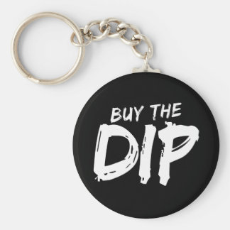 Buy the Dip White Print Keychain