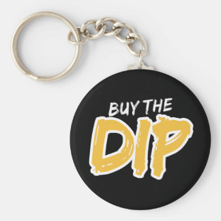 Buy the Dip Yellow Print Keychain