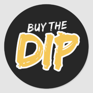 Buy the Dip Yellow Print Sticker