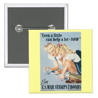 Buy U.S. War Stamps & Bonds 15 Cm Square Badge