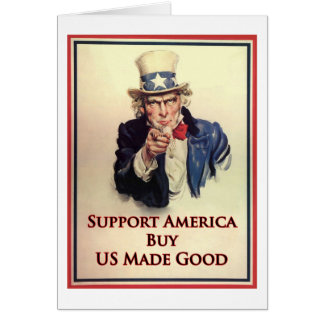 Buy US Goods Uncle Sam Poster Card