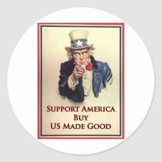 Buy US Goods Uncle Sam Poster Stickers