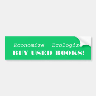 Buy used books bumper sticker