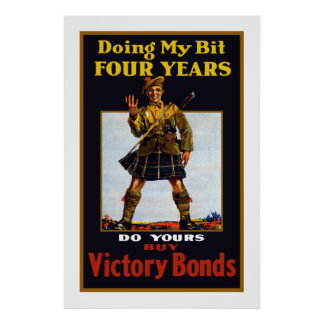 Buy Victory Bonds -- WW1 Print
