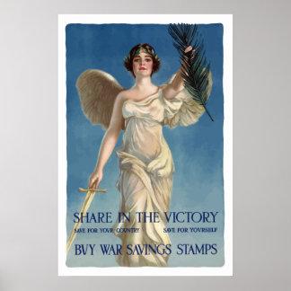 Buy War Savings Stamps -- WW1 Print