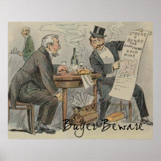 Buyer Beware Vintage Clever Artwork Poster