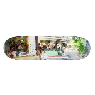Buying items in these shops on the street 19.7 cm skateboard deck