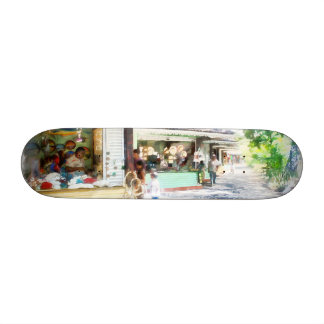 Buying items in these shops on the street custom skate board
