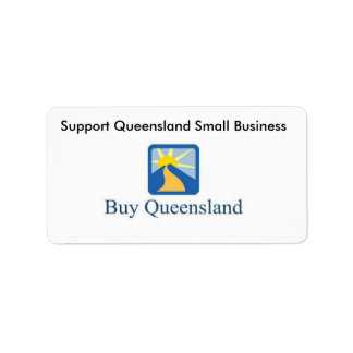 buyqld, Support Queensland Small Business Address Label