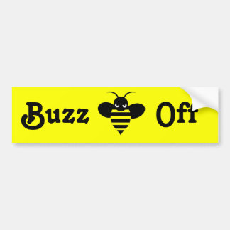Buzz Off Bumper Sticker 2