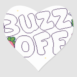 Buzz Off Heart Sticker