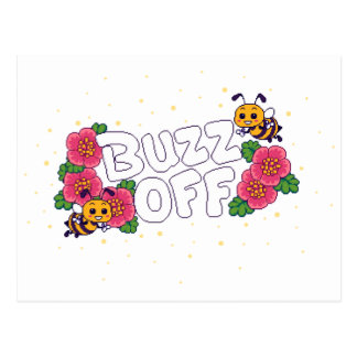Buzz Off Postcard