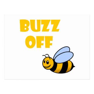 buzz off postcard