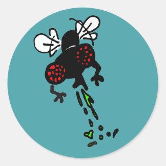 Buzz on this round sticker