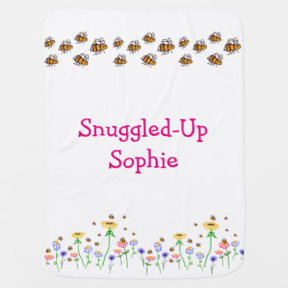BuzzAboutBees Personalized Baby Bumblebee Blanket