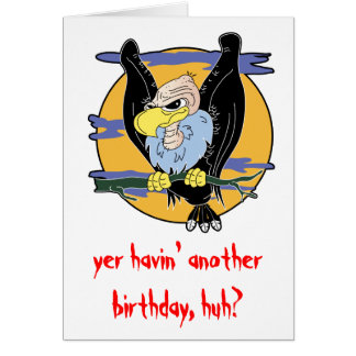Buzzard Birthday Card