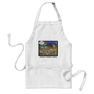 Buzzard Comedy Clubs Funny Cartoon Gifts & Tees Adult Apron
