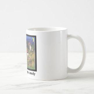 Buzzard Comedy Clubs Funny Cartoon Gifts & Tees Basic White Mug