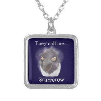 Buzzard in a Blizzard Bejeweled Silver Plated Necklace